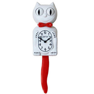 Urban Outfitters Candy Cane Red Kit-Cat Clock
